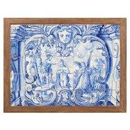 "18th century Portuguese azulejos panel ""Baptism"""
