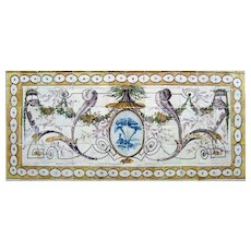 "late 18th century Portuguese tile mural ""neoclassical"""