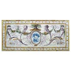 "late 18th century Portuguese tile mural ""neoclassical"""