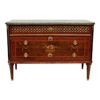 A Swedish Gustavian Commode by Nils Petter Stenström, Marble Top