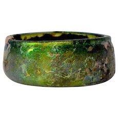 A Roman Iridescent Glass Bowl, 1st-3rd Century AD