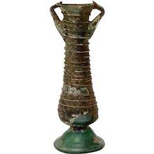 A Roman glass bottle, 1st-3rd century AD