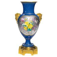 Gilt Bronze-Mounted Sèvres Vase, Dated 1871