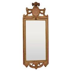 A Very fine Gustavian Giltwood Mirror signed Johan Åkerblad, Stockholm. Original condition.