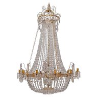 A Swedish Gustavian Chandelier Made in Stockholm, Circa 1780-85.