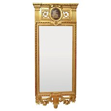 A Fine Gustavian Giltwood Mirror by Johan Åkerblad (1728-1799), Stockholm