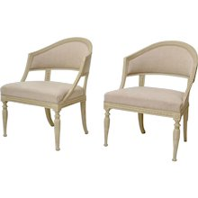 A Pair of Late Gustavian Swedish Armchairs Attributed to Ephraim Stahl, ca. 1800