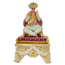 A 19th century European Porcelain Encirer  in The Oriental Style