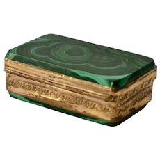 A Malachite Snuffbox