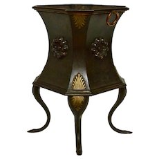 A Painted Tinplate Wine Cooler, 19th century