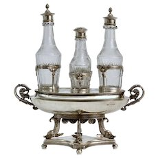 A Swedish Empire Silver Cruet By Anders Lindqvist, Stockholm 1822