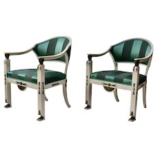 A Pair of Swedish Gustavian Armchairs Made By Ephraim Stahl, Stockholm.