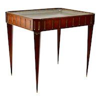 Swedish Gustavian Mahogany Tea Table With Pewter Top, 18th Century