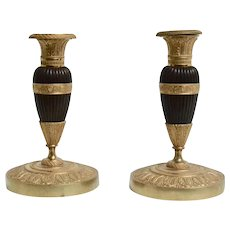 Pair of Empire Candlesticks, Early 19th Century