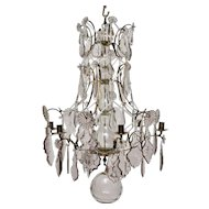 Swedish Baroque Chandelier, 18th Century