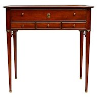 Swedish Gustavian Mahogany Working Table With Drawers