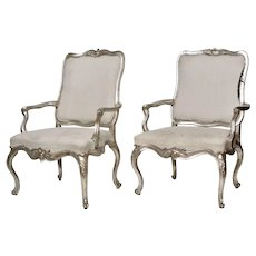 Pair of Danish 18th Century Rococo Armchairs