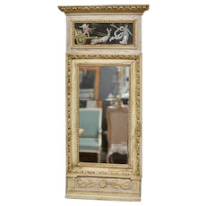 Gustavian Mirror With Gouaches, ca1800