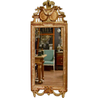 Gustavian Mirror, Giltwood, By Johan Åkerblad, 18th Century
