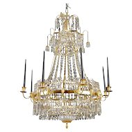 Swedish Gustavian Chandelier, ca.1800.