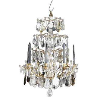 Rococo Rock Crystal Chandelier,18th Century, France