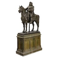 A Large Scale 19th Century Sculpture Of The Swedish King Karl X Gustaf (1622-1660) On His Horse