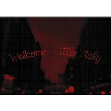 """NYC """" Red Passion"""" Welcome To Little Italy, 2017 (Masterpiece)"""
