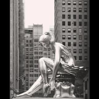 Seated Ballerina, 2017 Summer Installation By Jeff Koons, On Display At Rockefeller Center, New York. (Masterpiece)