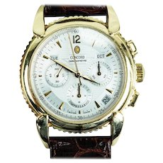 Concord Yellow Gold Impresario Triple-Calendar Chronograph Wristwatch with Date