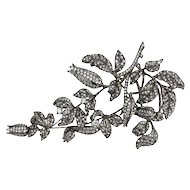 Tremblant Lily of the Valley Flower Crystal Silver Brooch Pin