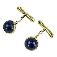 Edwardian Lapis Lazuli Gold Cufflinks