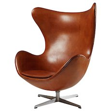 Armchair, the Egg, designed by Arne Jacobsen for Fritz Hansen, Denmark. 1958.