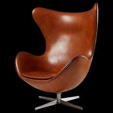 Armchair, the Egg, designed by Arne Jacobsen for Fritz Hansen, Denmark. 1958.