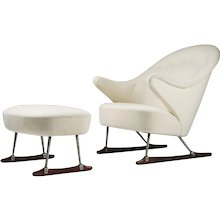 20th century sleigh chair design by Borge Mogensen