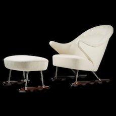 20th century sleigh chair design by Borge Mogensen