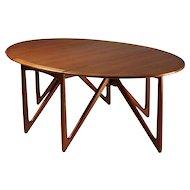 Dining table designed by Peter Hvidt and Olga Möllgaard Nielsen, Denmark. 1950's