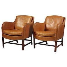 Mix. Pair of armchairs, designed by Kaare Klint & Edvard Kindt-Larsen for Rud Rasmussen, Denmark. 1931.