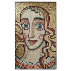 """Mosaic wall panel """"Queen of Mälaren"""" by Einar Forseth, Sweden. 1923."""