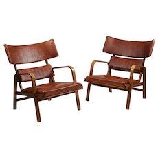 Armchairs Designed by Magnus Stephensen, Denmark, 1963