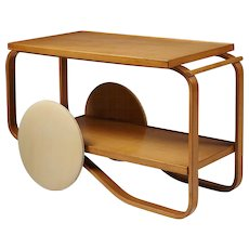 Tea Trolley Model 901 Designed by Alvar Aalto for Artek, Finland, 1936