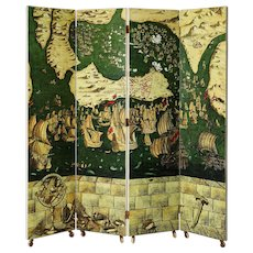 Folding Screen by Piero Fornasetti, Italy, 1954