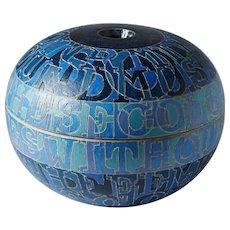 Lidded bowl by Bo Kristiansen, Denmark. 1980's.