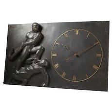 Monumental wall clock, anonymous, Denmark. 1947.