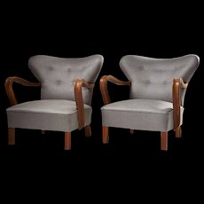 Pair of armchairs anonymous, Denmark. 1940's
