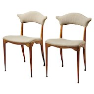 Two pierced back chairs designed by Peder Moos, Denmkark. 1949.