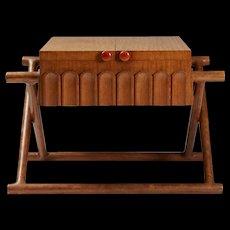 Sewing table designed by Mogens Lassen for K. Thomsen, Denmark. 1941.