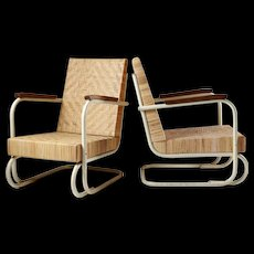 Table and armchairs, anonymous. Swedish, 1930's