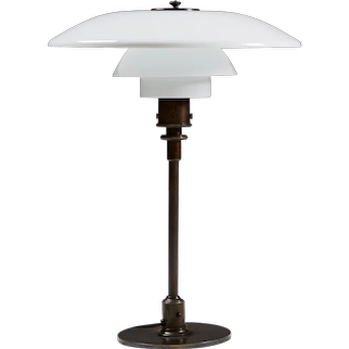 Table lamp 4/3 designed by Poul Henningsen for Louis Poulsen,  Denmark. 1926.