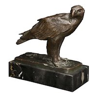 """Sea Eagle"" bronze sculpture by Josef Pallenberg"
