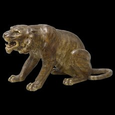 Bergmann seated tiger, 19th Century.